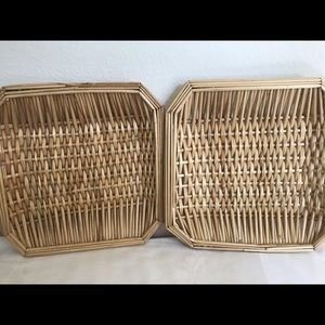 Square Wicker Basket Tray